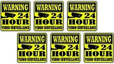 Lot de 4 stickers adhesif camera video surveillance ref SV01 format 10x10cm