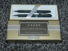 NEW+in+BOX+CROSS+SATIN+BLACK+BALL+POINT+PEN+and+0.7mm+PENCIL+SET