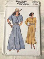 Vintage Very Easy Vogue Sewing Pattern 9865 Misses Dress 14 16 18 Loose Modest