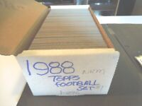 1988 Topps Football Complete Set 396 cards Near Mint  Lot card Collection