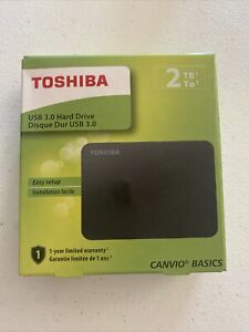 Toshiba Canvio Basics 2TB Portable Hard Drive HDTB420XK3AA -Black