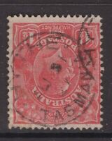 Tasmania HYTHE type 1 postmark (circle stops) on KGV