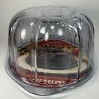 Nordic Ware Cake Keeper Bundt Clear Dome Shape Plastic 10' New