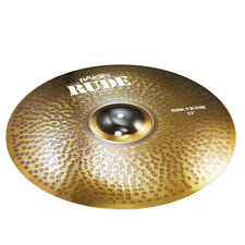 "Paiste Rude Ride/Crash Cymbal Medium Heavy Long Sustain Bright Raw Full 22"""
