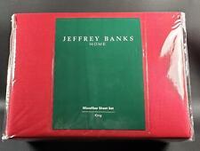 NEW Jeffrey Banks SOLID RED Microfiber KING SHEET SET Retired NIB