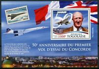 Togo Aviation Stamps 2019 MNH Concorde First Test Flight 50th Anniv 1v S/S