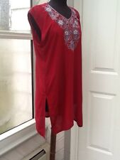 NEW - Woman's Sleeveless Red Tunic - Size M