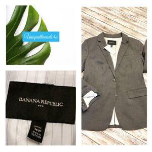 NWT Banana Republic Grey Women's Blazer Size 10P NEW