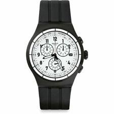 Swatch Chrono Again Quartz Movement White Dial Men's Watches YOB403