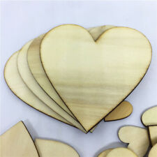 100pcs Wooden Love Hearts Wood Slices Embellishments Scrapbooking Wedding 25mm