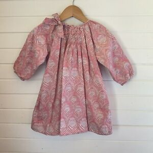 Fred Bare Long Sleeved Dress - Liberty Print - Size 1 year / 12-18 months