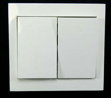 Berker Serienschalter K.1   2 fach (3035)   Abdeckrahmen 24101   Weiß