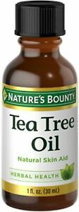 1oz Tea Tree Oil Natural Antiseptic Nature's Bounty Health Herb Supplement NEW