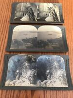 antique stereoscope 3 cards keystone view company copyright 1900