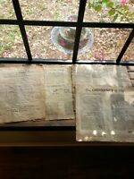 4 Antiqued Parchment Paper US Historical Document Bill of Rights, Mayflower 1787