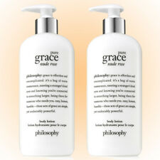 Philosophy Pure Grace Nude Rose Lotion Duo- Two 16 OZ. Bottles - Save $$  New