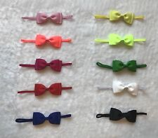 "10Pcs 3.5"" Baby Infant Toddler Girl Multi-color Skinny elastic headband headwear"