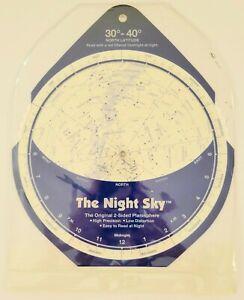 Planisphere The Night Sky - 2 Sided 30-40 North Latitude David Chandler Original