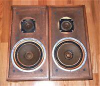"""KLH MODEL 20 speakers 10"""" Woofers, Grilles, Crossovers & tweeters original NICE"""