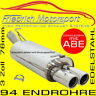 FRIEDRICH MOTORSPORT V2A SPORTAUSPUFF 76MM BMW 3er GT 320i 320ix F34