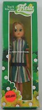 Fleur ( dutch Sindy ) doll in striped dress with light brown/red hair Nrfb Rare!