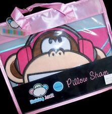 BOBBY JACK original I MUSIC pink star headphones GREAT LOOKING PILLOW SHAM~NEW