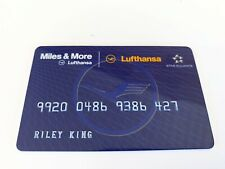 BB King OWNED Lufthansa Airlines Miles Card JULIENS Estate