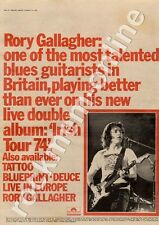 Rory Gallagher Irish Tour MM4 LP Advert 1974 #2 CD