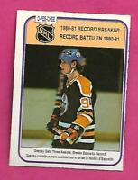 1981-82 OPC # 392 OILERS WAYNE GRETZKY RB  EX-MT CARD (INV# C8056)