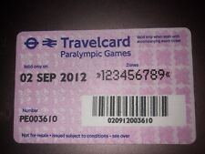 Lodon 2012 Olympics Travelcard 2 September 2012