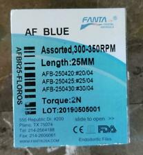 Endo Dental Rotary AF Blue NiTi Files 25 mm Beat Vortex Root Canal USA