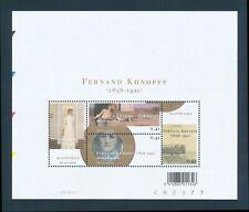 BELGIUM 2004 MINT NH SOUVENIR SHEET #1996, ART BY FERNAND KHNOPFF !!  M2-88