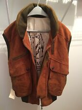 NEW - Suede Leather Chaleco Vest from Patagonia Argentina Men's - Size M Medium