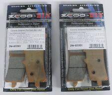 ZCOO 2 COPPIE PASTIGLIE FRENO ANTERIORE EX PER DUCATI HYPERMOTARD S 1100 2007