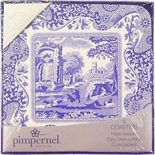 SPODE BLUE ITALIAN 6 COASTERS (BY PIMPERNEL) NEW/BOXED