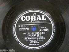78rpm McGUIRE SISTERS do you love me like you kiss me / volare