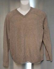 Carlucci 100% Cashmere Mens V-Neck Sweater M Medium