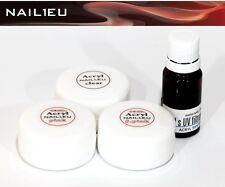 la valeur acrylique liquide 10 ML + 3x10g poudre : clair,rose,camouflage rose