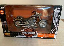 Maisto 1:18 Harley-Davidson Flstf Fat Boy, Series 3, 95 Anniversary, In Box