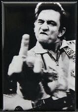 "Johnny Cash B & W Photo 2"" X 3"" Fridge Magnet."