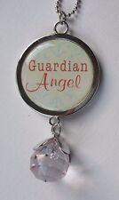 w Guardian angel protect us all prism CAR CHARM rear view MIRROR ORNAMENT Ganz