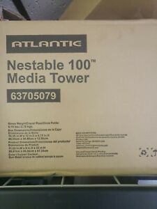 Steel Media Tower Rack Video Game CD DVD Storage Organizer Shelf Stand Black New