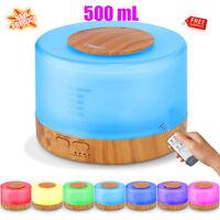 500ML Essential Oil Diffuser Remote Control Ultrasonic Aroma Mist Humidifier NEW