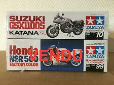 Tamiya moto 1/12 honda, suzuki. une moto au choix. 14099, 14010.