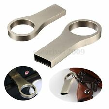 NEW 32GB USB 2.0 Key Chain Ring Metal WaterProof Flash Memory Stick Drive Thumb