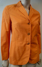BOGNER Women's Orange V Neck Lapelled Long Sleeve Casual Blazer Jacket Sz:S