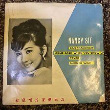 MEGA RARE NANCY SIT CHINESE 60s beat DIVA Garage not MALAY SINGAPORE Ep 45s