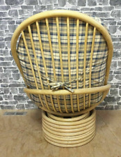 Swivel Handmade Wicker Rattan Rocking Chair