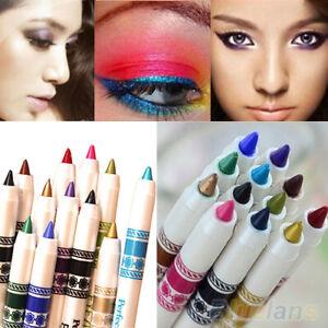 12 Pcs/Set Cosmetic Glitter Eye Shadow Lip Liner Eyeliner Pencil Pen Makeup Heal
