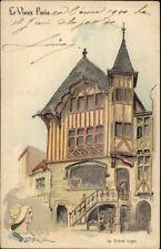 1900 Paris Universelle Expo Le Grand Logis Artist Signed Postcard